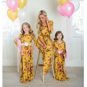 Other - 🆕⭐ Mustard yellow floral girls boho maxi dress